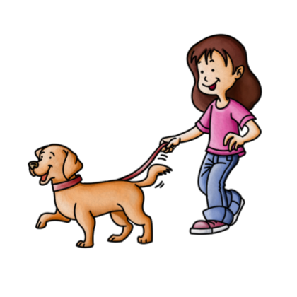 Pet clipart dog walking.