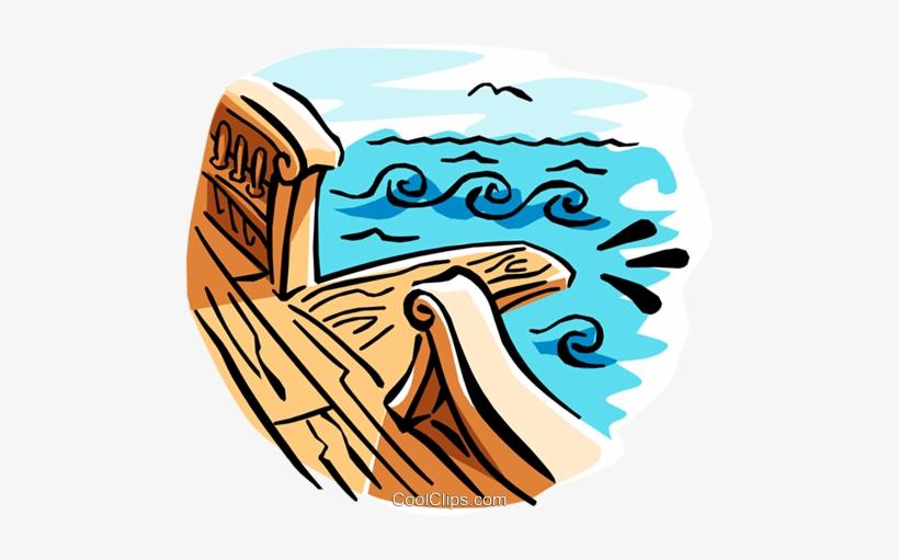Gang Plank Royalty Free Vector Clip Art Illustration.
