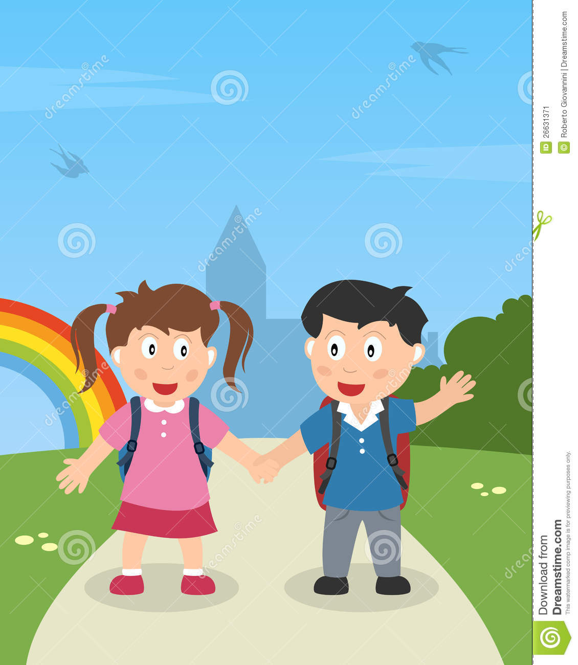 Walk In The Park Clipart.