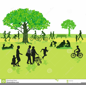 Walking In The Park Clipart.