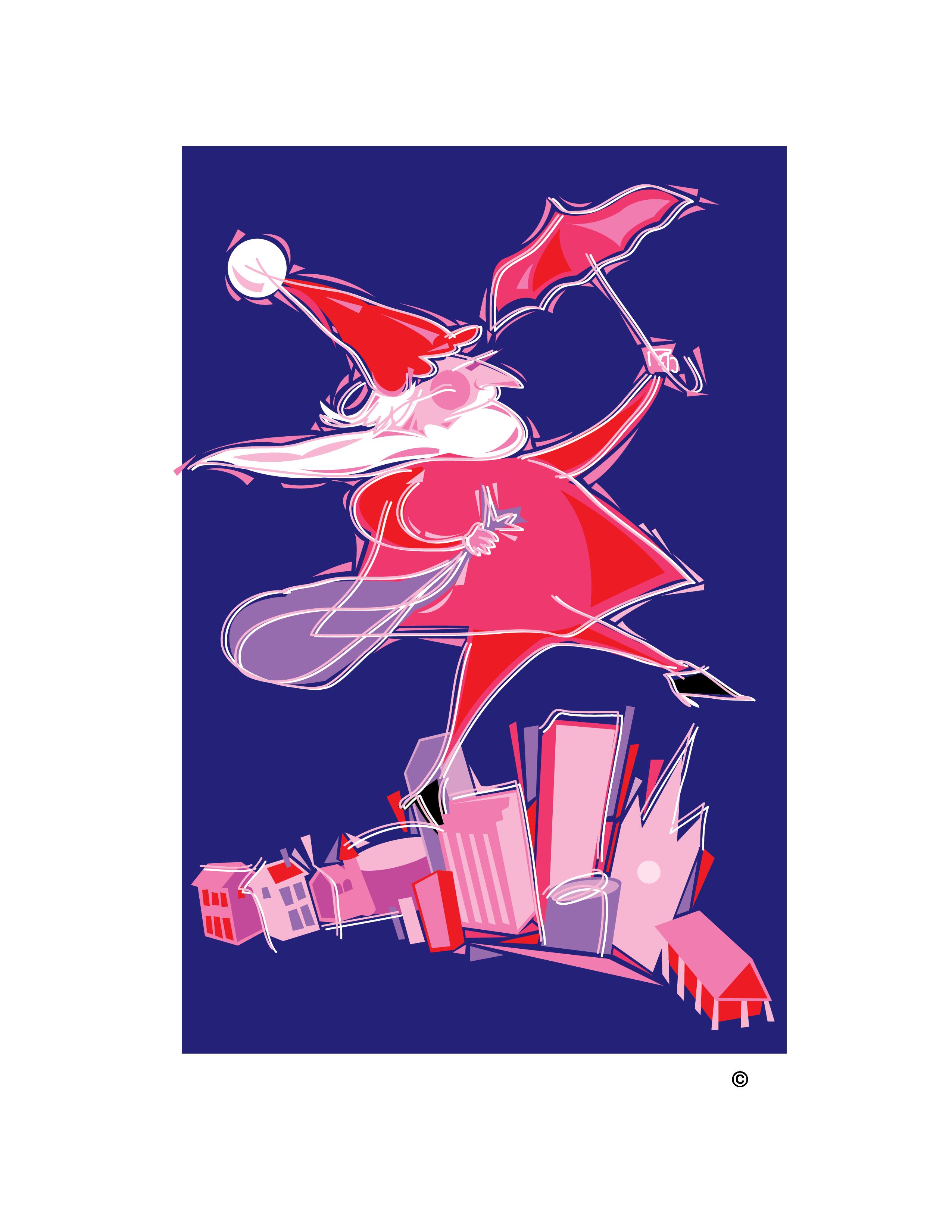 Dancing Santa Clip Art.