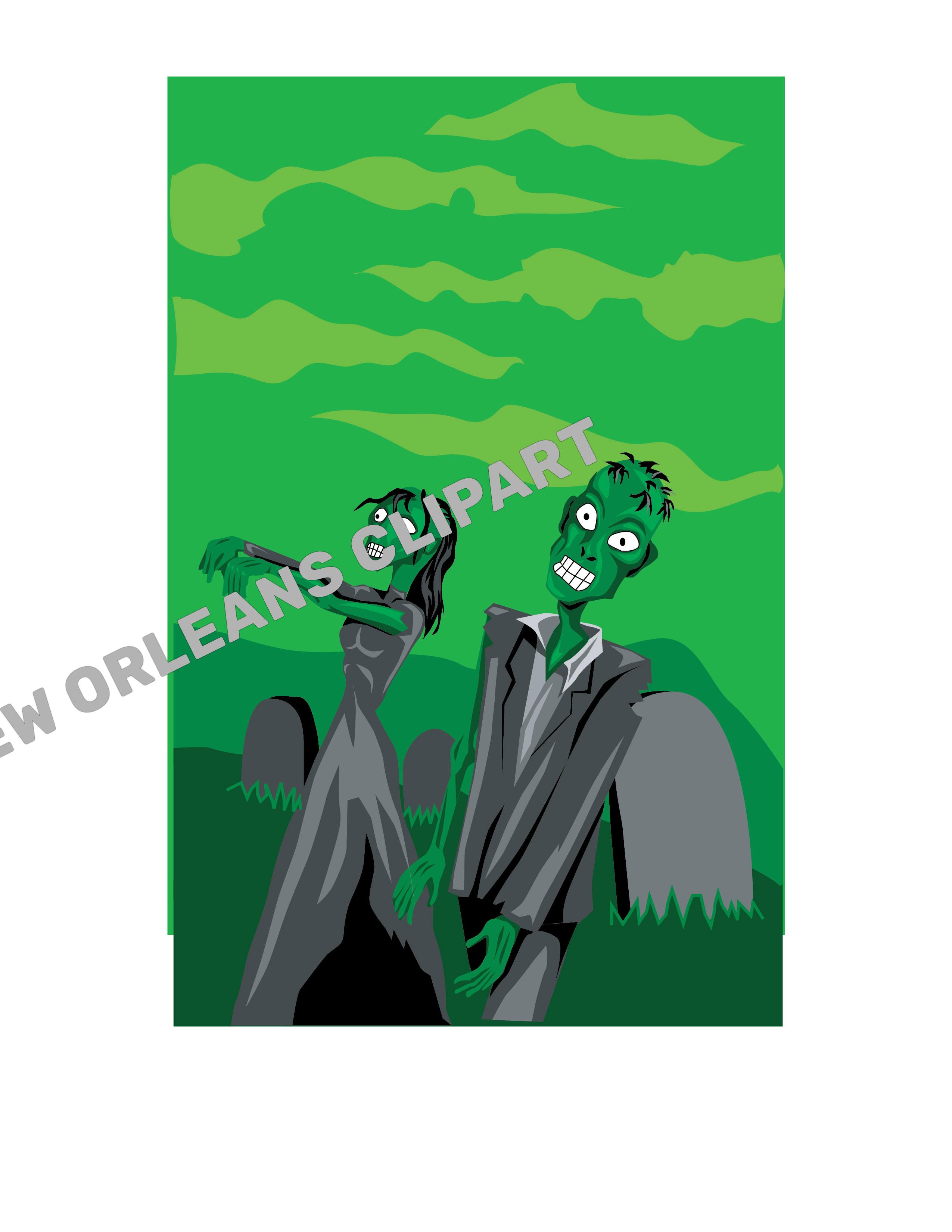Zombies Vector Clip Art.