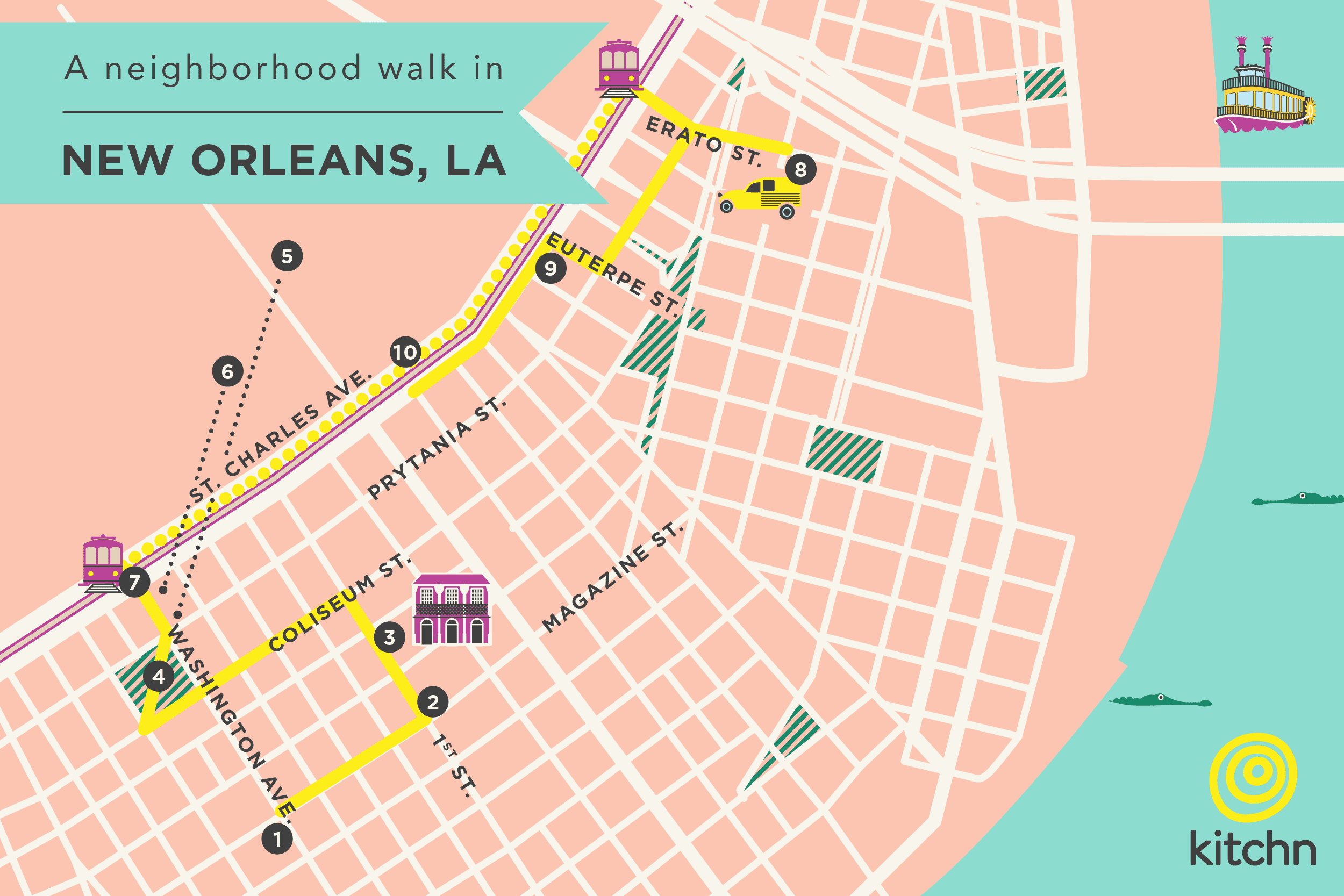 A Neighborhood Walk in New Orleans: The Garden District.