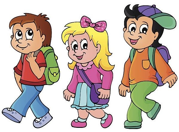Kids walking to school clipart 1 » Clipart Station.