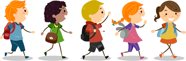 Kids Walking Clipart Png.