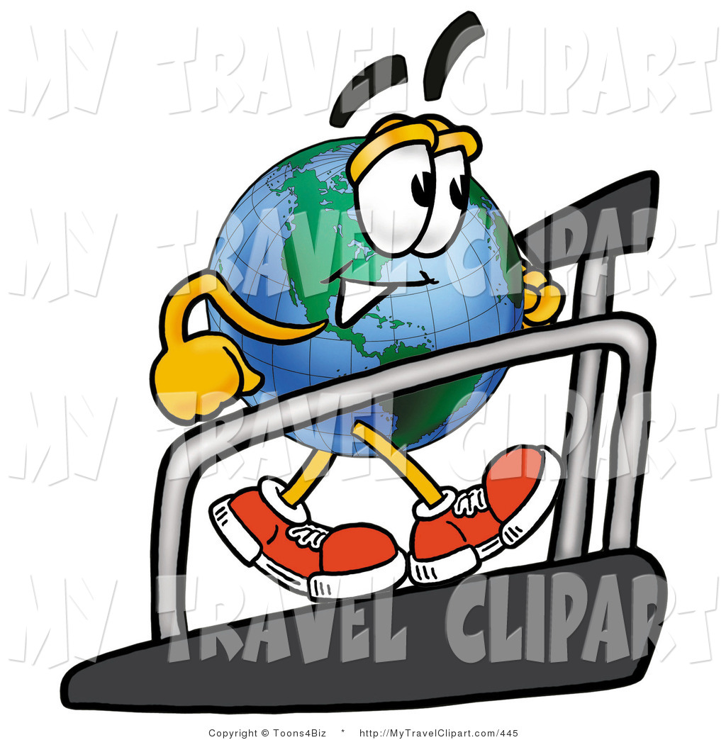 Clipart of a Healthy World Earth Globe Mascot Cartoon.