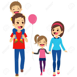 Download family walking together clipart Clip art.