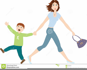 Family Walking Together Clipart.