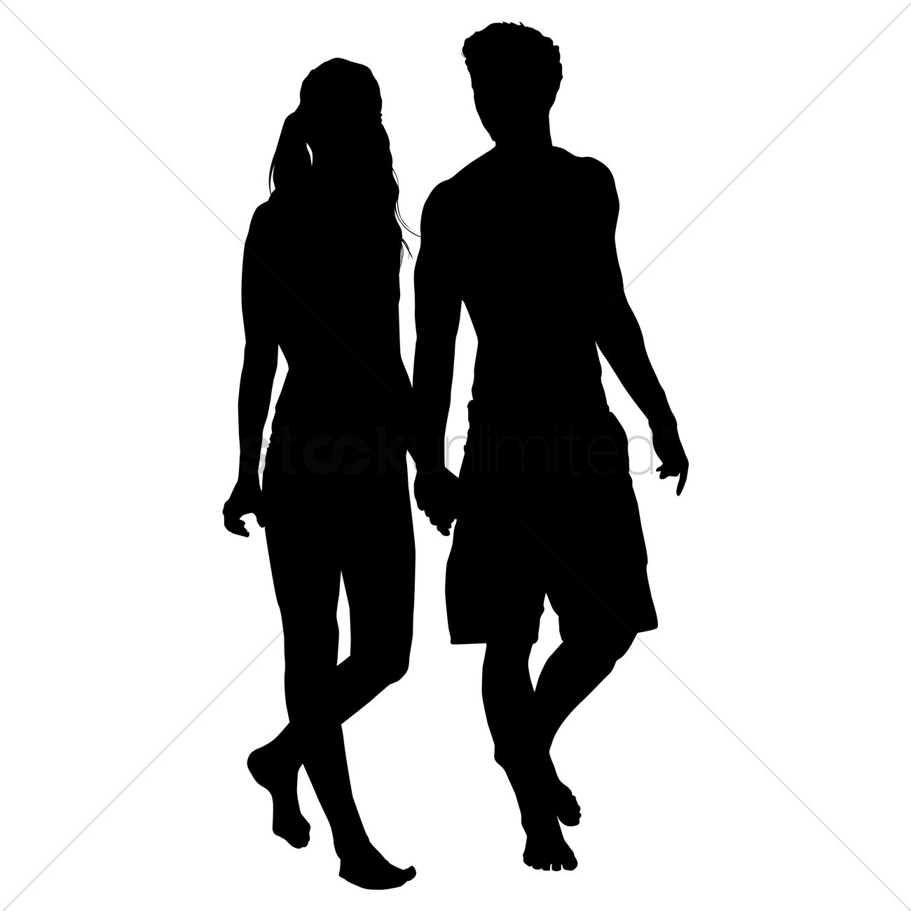 Walking Together Silhouette.