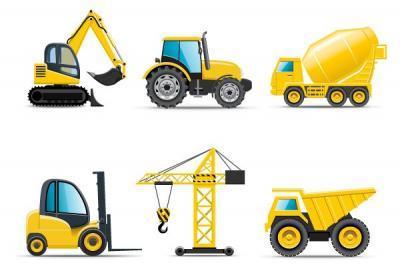 Walking Tractor Power Tiller clip art Free Vector.