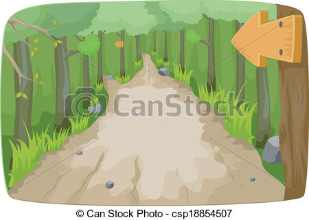 Hiking trail Illustrations and Clipart. 1,542 Hiking trail royalty.