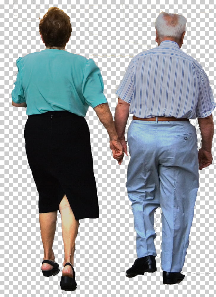 Walking Adult Old age, couple PNG clipart.