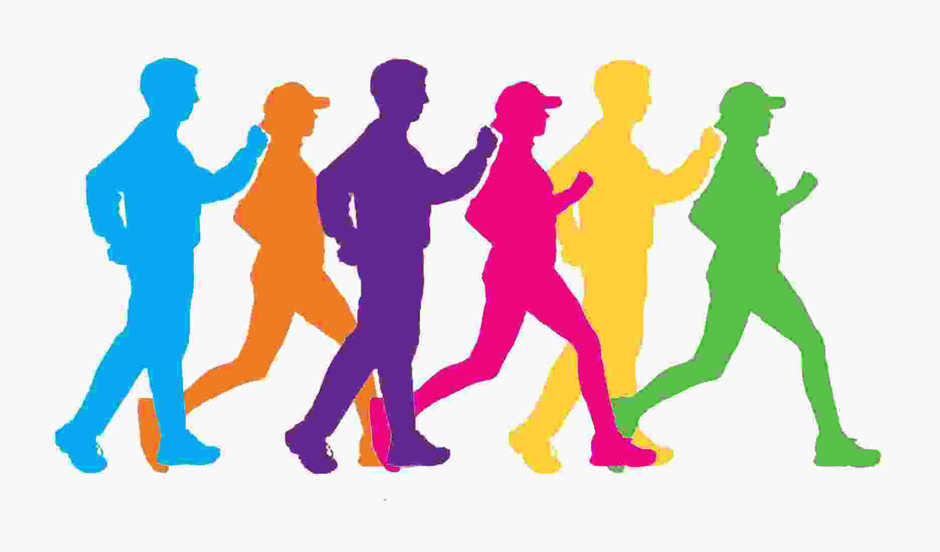 Cliparts Club: Clipart Walking Group.