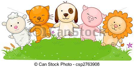 Stock Illustration of Friends.