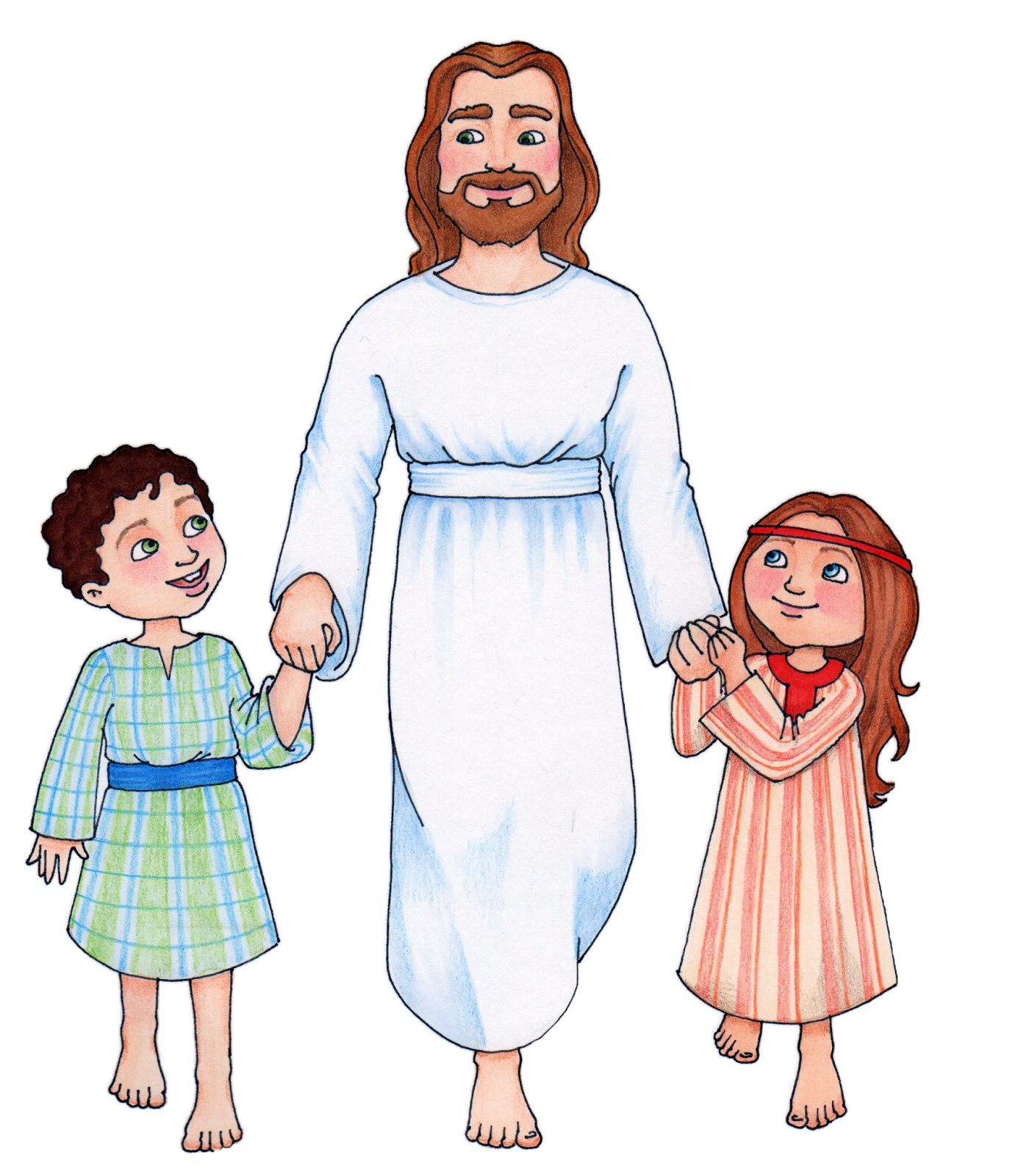 Christ walking with Children CLICK HERE TO DOWNLOAD.