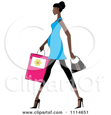 Black Women Walking Clipart.