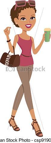 EPS Vector of Girl Walking.