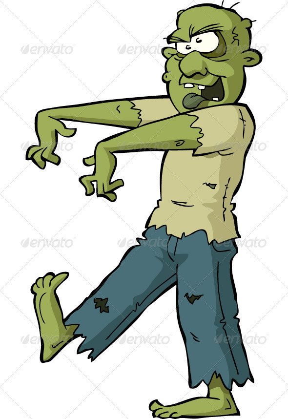 9 Awesome Zombies Vectors.