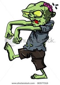 Walking Zombie Clipart.