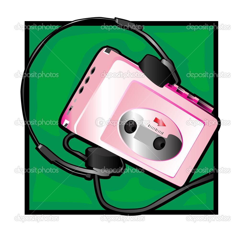 Walkman clip art — Stock Photo © richcat #10274370.