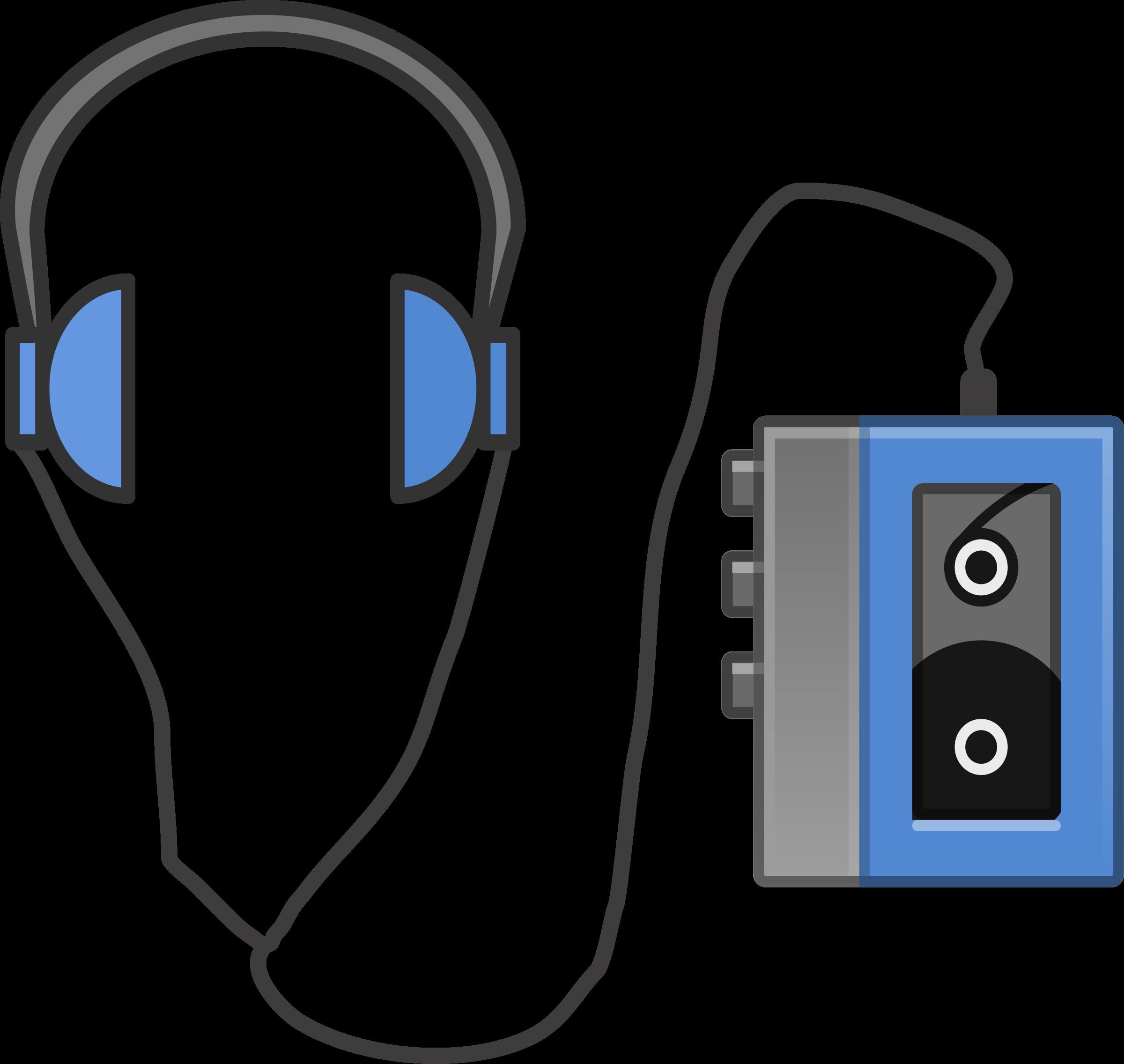 Big Headphones Clip Art.
