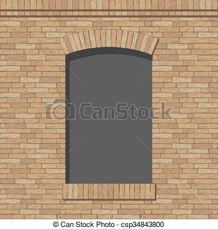 Vector Clipart of Brick arch opening of the brick in a classic.