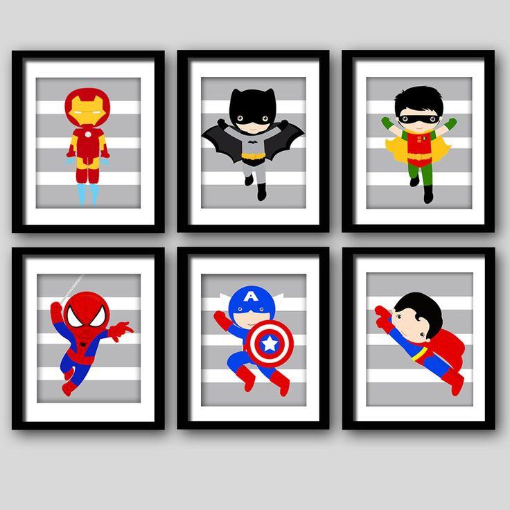 17 Best Ideas About Superhero Wall Art On Pinterest.