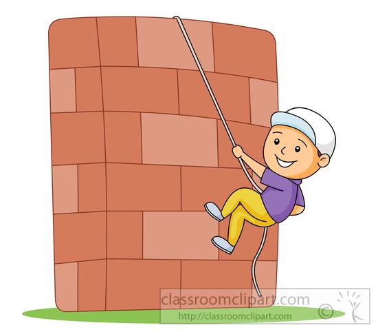 Wall Climbing Clipart.