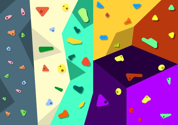 Free Climbing Wall Vector.