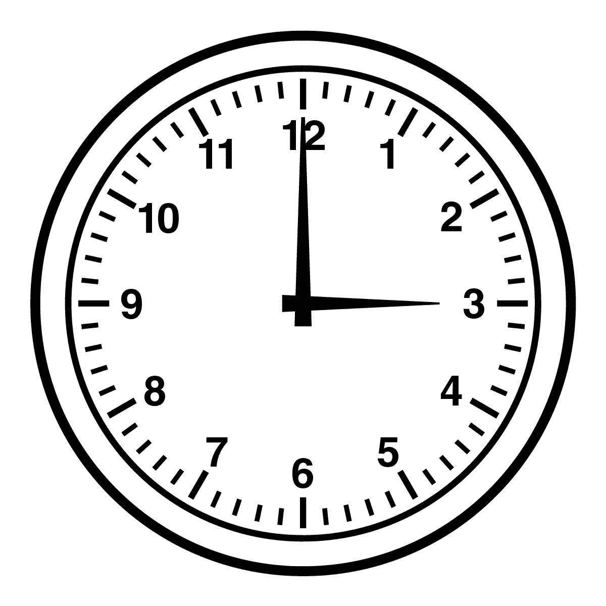 Clipart Of Clock Black And White.