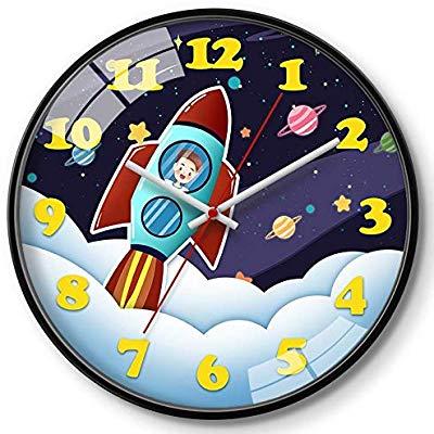 Wall Clock Creative Cartoon Living Room Round Mute Children.