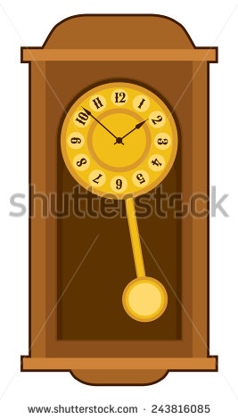 Old Wall Clock Stock Images, Royalty.