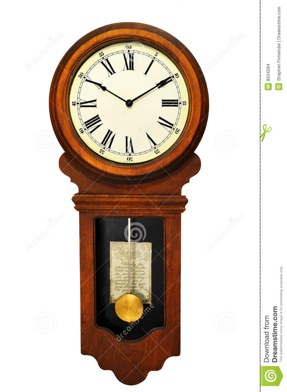 Antique Wall Clock Stock Images.