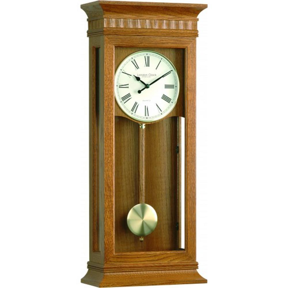 London Clock Company Extra Large Light Oak Westminster Pendulum.