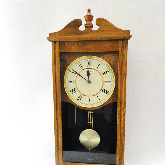 Wall Clock Seiko Pendulum Seth Thomas Clock Works Federal.