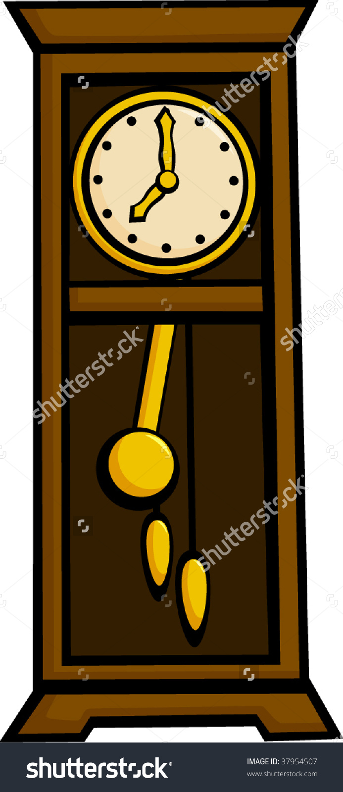 Grandfather Pendulum Clock Stock Vector 37954507.