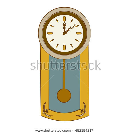 Grandfather Pendulum Clock Stock Illustration 55389193.