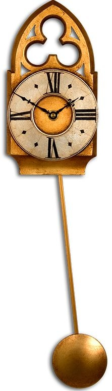 Wall Clock With Pendulum Clipart.