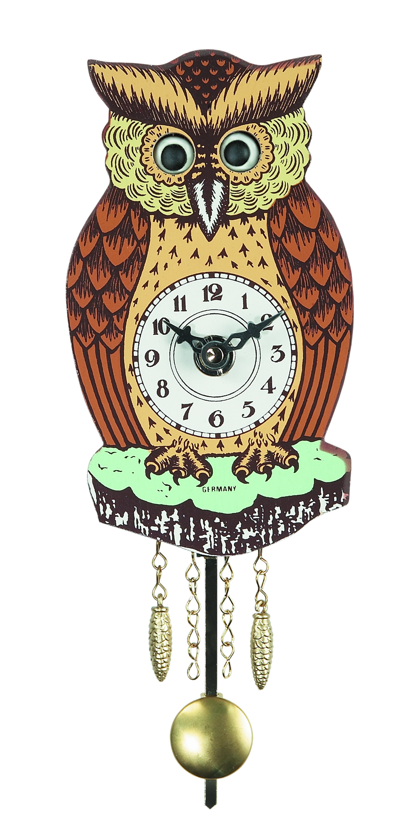 Wall clock for children Owl 1.