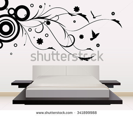 Wall Art Sticker Stock Vectors & Vector Clip Art.
