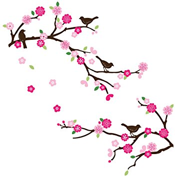 Amazon.com: Blossoms and Branches Decorative Peel & Stick Wall Art.