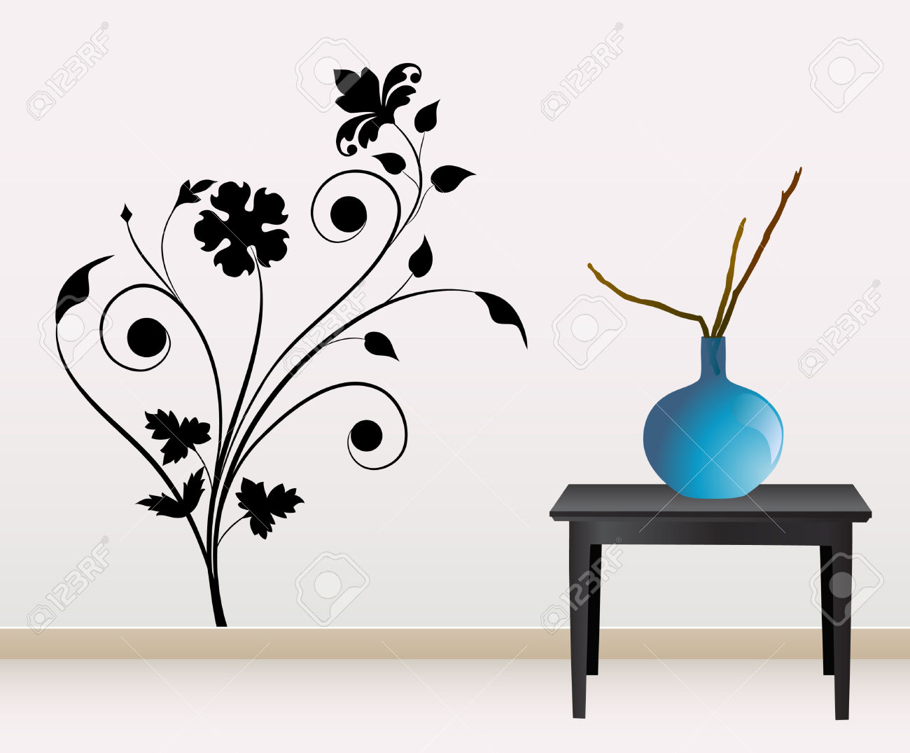 Wall Decoration Royalty Free Cliparts, Vectors, And Stock.