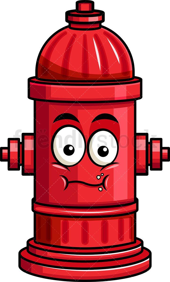 Chewing Fire Hydrant Emoji.