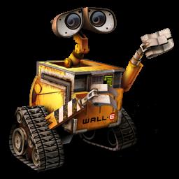 Pixar, robot, wall.