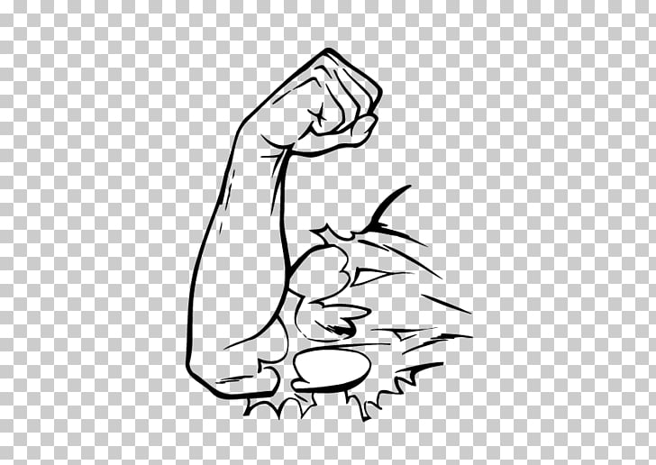 Wall decal Sticker Fitness Centre, Arm muscles explosion PNG.