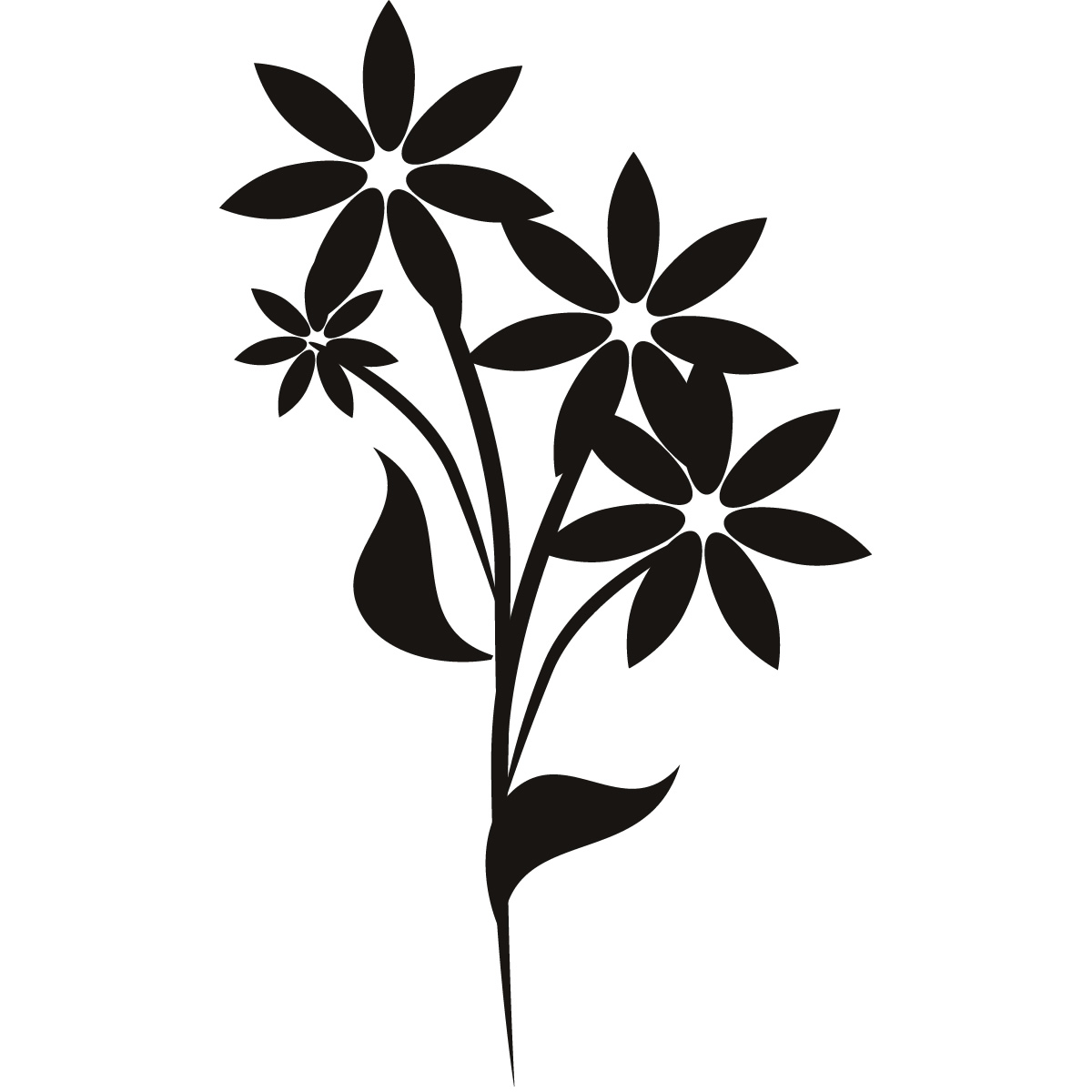 Floral wall art clipart.
