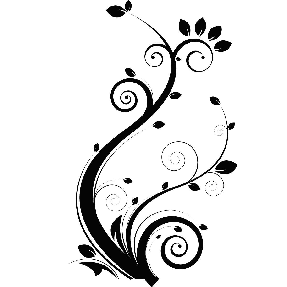 wall stickers flowers floral clipart decal leaves line drawing sticker transfers decor vine flower decals leaf clip vinyl swirl trees