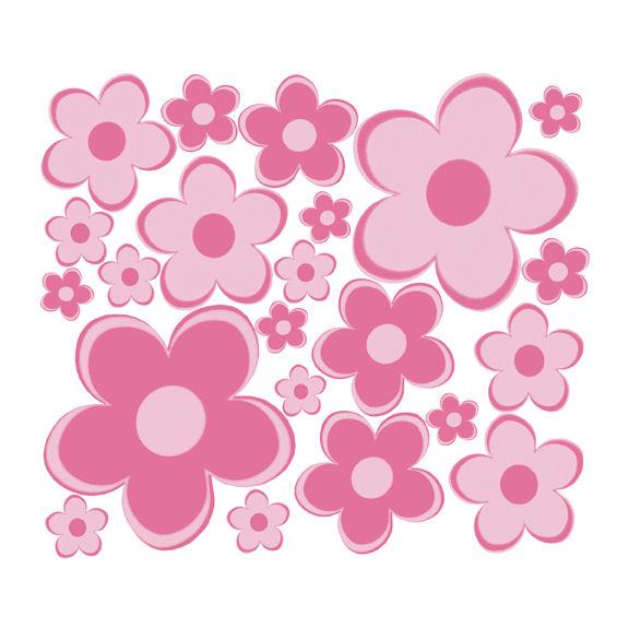 Polka Dot Flowers Clipart.