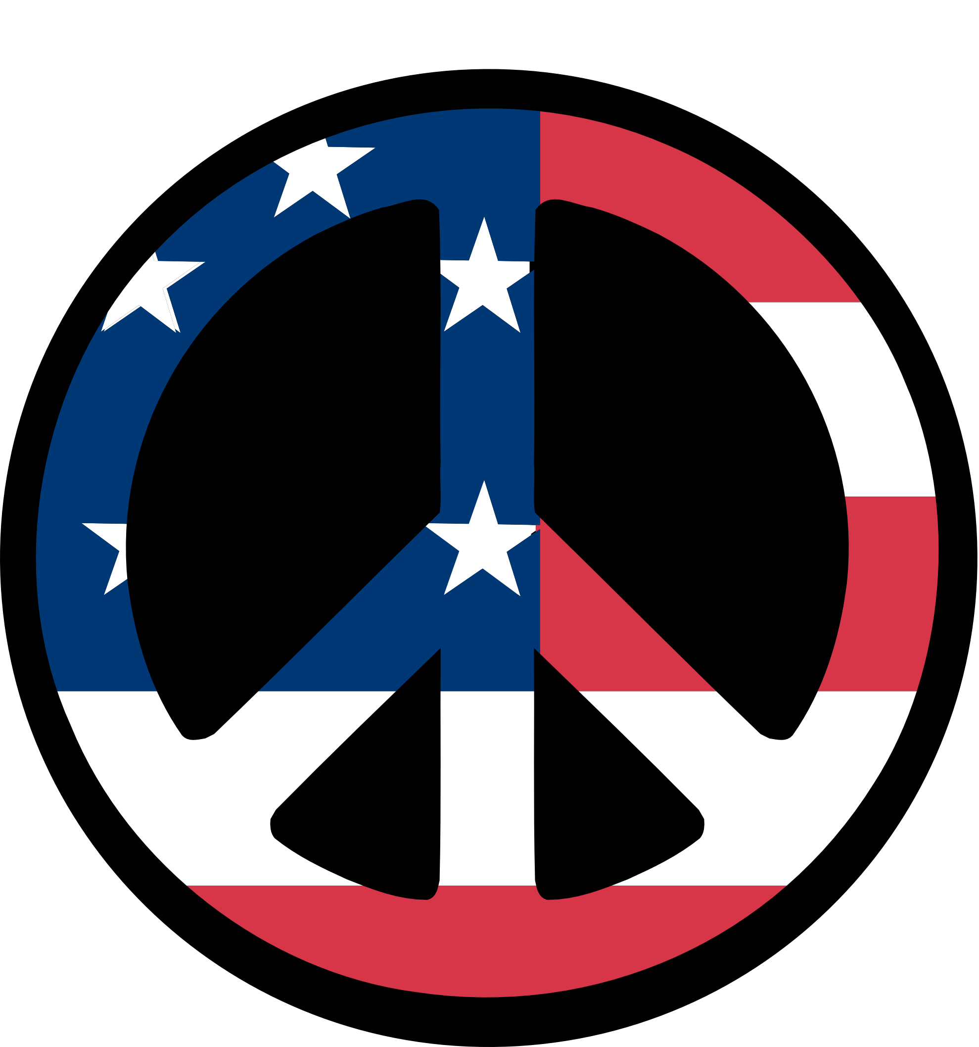 clipartist.net » Clip Art » countries us flag peace symbol fav.