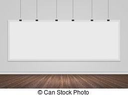 Stock Illustration of Blank white banner.